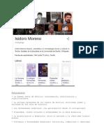 Isidoro Moreno Antropologo Andaluz y Su Bibliogrfia