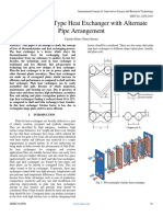 Study of Plate Type Heat Exchanger with Alternate Pipe Arrangement