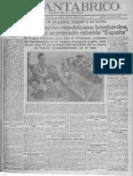 'El Cantábrico' tras el hundimiento del acorazado España