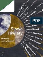Slowa i Swiaty Rozmowy Janiny Kozbiel Fragment