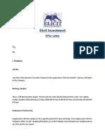 Offer Letter- Interns