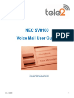 NEC SV8100 Voice Mail Guide