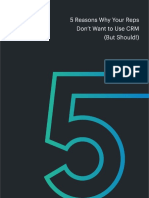 5 Reasons Why Your Sales Rep Wont Use CRM but Should