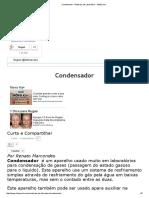 Condensador - Materiais de Laboratório - InfoEscola
