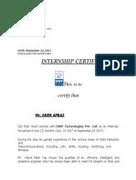 Sher Afraz Experience Letter