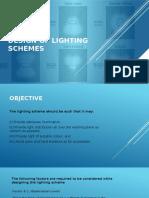 Design of Lighting Schemes
