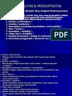 Materi Kuliah Biaya Kualitas Produktivitas (Materi Tambahan)