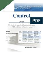 Ensayo Reseña Del Desarrollo de Los Sistemas De Control