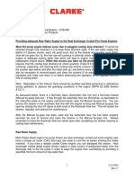 Raw Water Supply to the Engine Heat Exchanger Tech Bulletin c