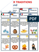Easter Traditions Around the World Flashcards Games Oneonone Activities Reading Compr 115698
