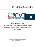 Reglamento RCNCTNNA 2019