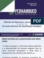 As Novas Técnicas de Classificação Biológica