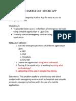 LIGAO EMERGENCY HOTLINE APP (Research) (Ihra Madrideo, Allaine Imperial, Fiona Codia)