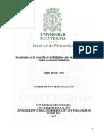 Berrío Toro, Mateo. Geografía, Regiones, Ciudadanía