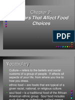 Chapter 2 Factors That Affect Food Choices Complete
