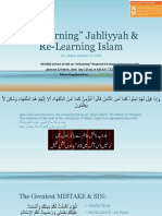 Unlearning Jahiliyyah and Re-Learning Islam