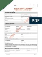 Certificado tributario