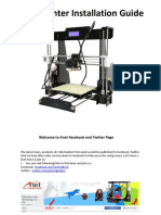 A8 3D Printer Installation Instructions-US