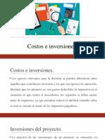 7. Costos e Inversiones