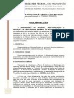 Edital Ppgs UFMA Imperatriz