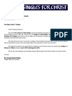 Letter for Venue