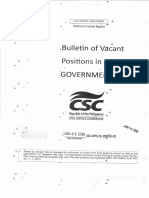 2019 01 08 Bulletin of Vacant Positions