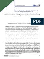 Desarrollo organizacional y los procesos de cambio en las instituciones educativas, un reto de la gestión de la educación.pdf