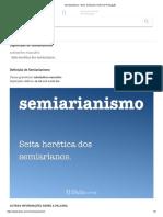 Semiarianismo - Dicio, Dicionário Online de Português