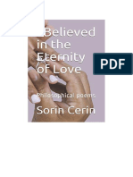 Sorin Cerin- I Believed in the Eternity of Love- Philosophical poems
