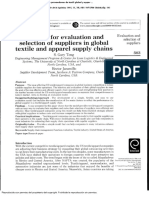 A Model for Evaluation and Selection of Suppliers in Global Textile and Apparel Supply Chains.en.Es