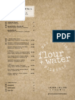 Flour + Water Pizzeria Menu