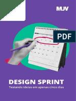 eBook Design Sprint Testando Ideias Em Apenas Cinco Dias Mjv