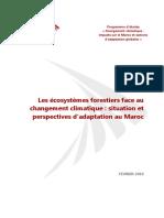 Les Ecosystemes Forestiers Face Au Changement Climatique - Situation Et Perspectives Dadaptation Au Maroc