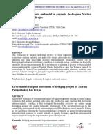 Evaluación de impacto ambiental al proyecto de dragado Marina Periquillo cayo Las Brujas