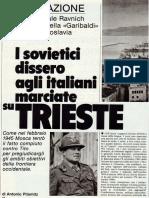 Storia Rivelazione Del Gen. Ravnich Comandante Della Garibaldi in Jugoslavia 1945