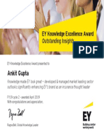 Ankit Gupta EYK Excellence Award