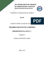 Resumen Ejecutivo Rafaela Cervantes