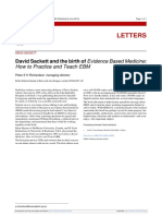 David Sackett and the Birth of Evidence Based Medicine How to Practice and Teach EBM