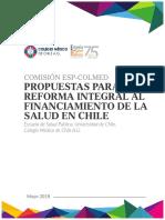 Propuesta Reforma de Financiamiento Integral a La Salud
