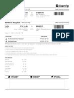 Cleartrip Flight E-Ticket
