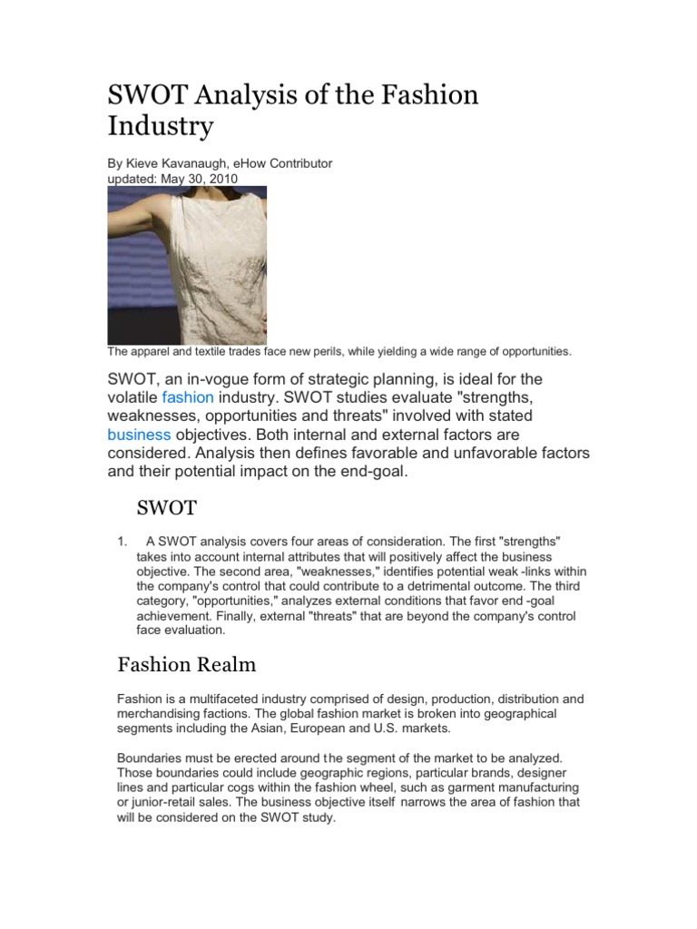 Swot Analysis Of The Fashion Industry Competition Law Counterfeit