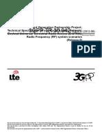36942-840 Radio Frequency (RF) System Scenarios