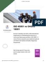ISO 45001 vs OHSAS 18001