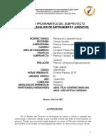 Contenido Prog. de Practicas II - Analisis de Instrumentos Jurídicos