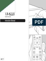 Onkyo TX-8220 Manual