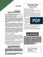 90045 Manual de Filtro de Aire 1028600