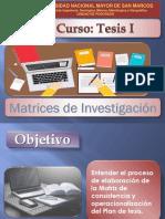 Matrices de investigación