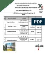 Itinerario 2 Taller de Capacitacion 2015