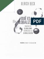 Qué Es La Globalización de Ulrich Beck (1)