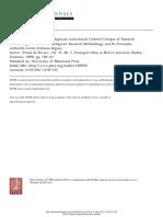 Anticolonioal Critique of Research Methodologies 1